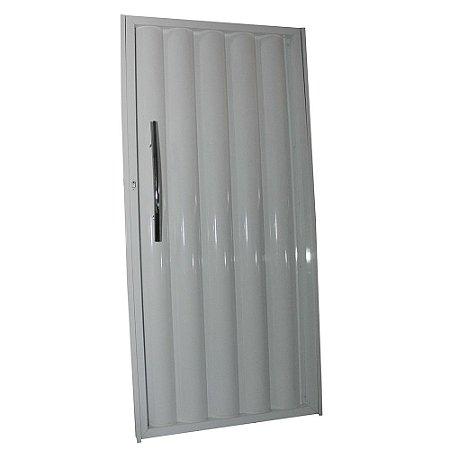 Portão de Alumínio Búzios Branco  180x82 Abertura Direita