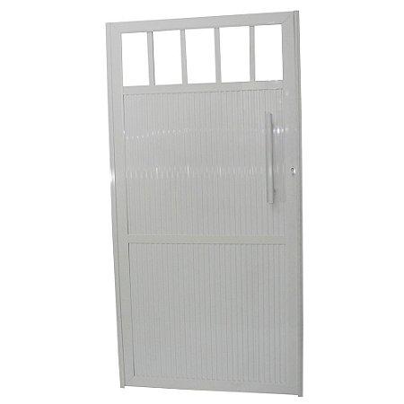 Portão Standard Branco 180x80 Abertura Direita Com Puxador