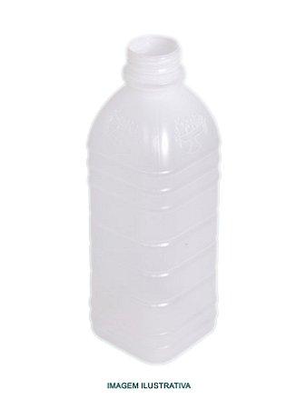 Garrafa leitosa quadrada c/ tampa 300ml - 10 unidades