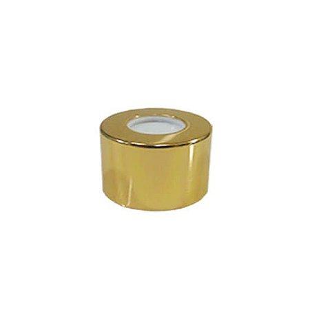 Tampa luxo ouro c/ furo R28 - 1 unidade