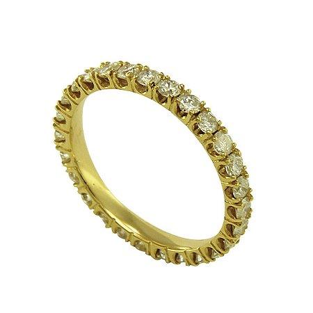 Aliança de Ouro e Diamantes (5 pts por pedra)