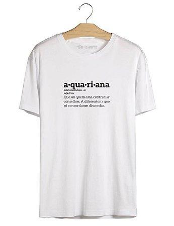 Camiseta Aquário - Aquariana Signo
