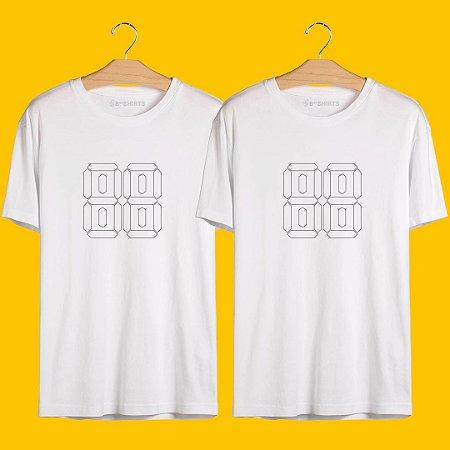 Camiseta de Casal - Personalizada - Kit Faça você Mesmo(a)