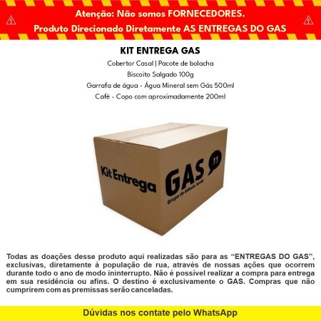 Kit Entrega Individual Doação - GAS & Hyundai