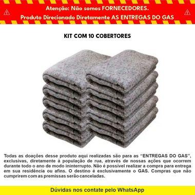 Kit com 10 Cobertores para Doação - GAS & Cabana Burger