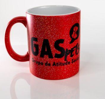 Caneca Porcelana GAS com Glitter Mágica