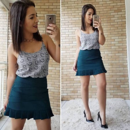 Saia Shorts com Babados