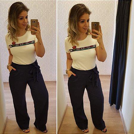 Pantalona em Linho Lisa