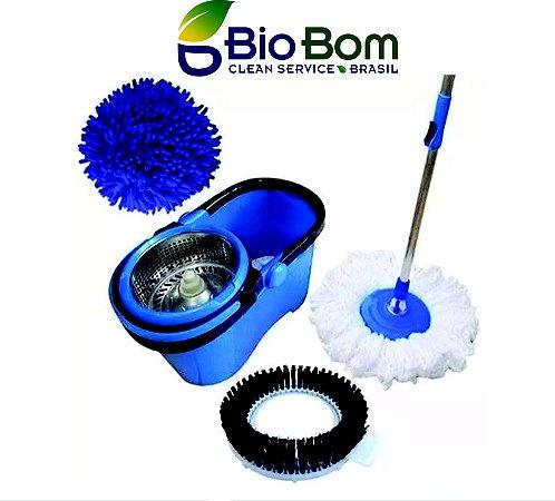 BIOBOM MOP 4 EM 1 (lava, esfrega, seca e remove poeiras) 3 MESES DE GARANTIA
