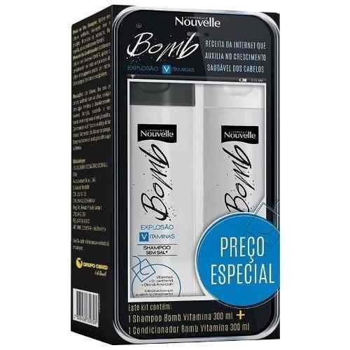 Shampoo Condicionador Bomb Vitamina Com 300 Ml