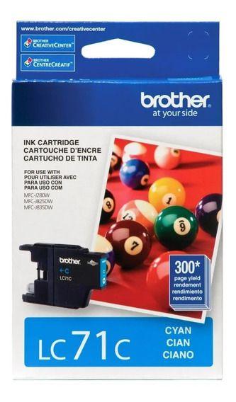 Cartucho de Tinta BROTHER LC71Y Ciano