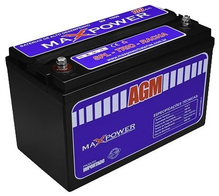 Bateria MaxPower AGM 100ah