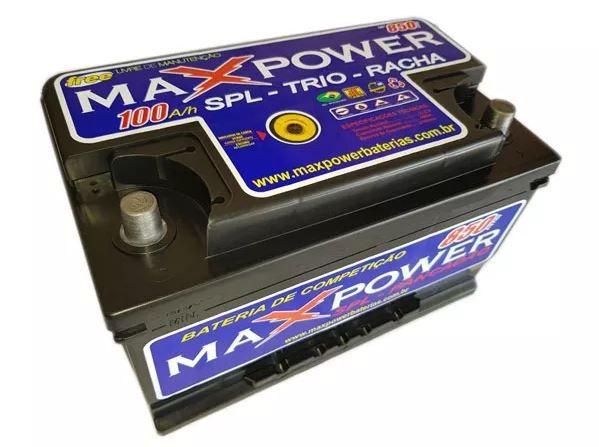 Bateria Maxpower 100ah Selada Livre De Manutenção