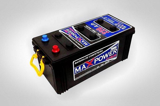 Bateria de Competição MAXPOWER 220ah SPL para som automotivo MP-2000