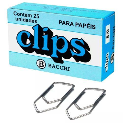 Clips Niquelado 8/0 Caixa com 25un - Bacchi