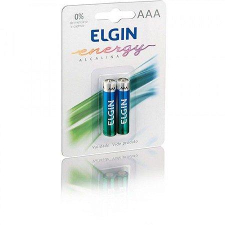 Pilha Palito Elgin Alcalina AAA C/ 2