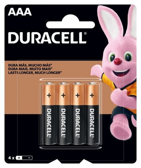 Pilha Palito Duracell Alcalina AAA C/4