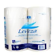 Papel Higiênico Leveza Extra Luxo 100% Cel. 8x10x300m