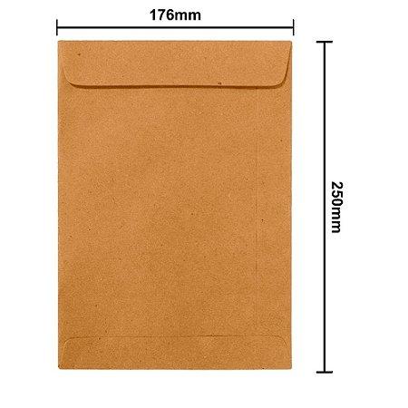Envelope Kraft Natural 176mmx250mm - 80g pct c/ 100un