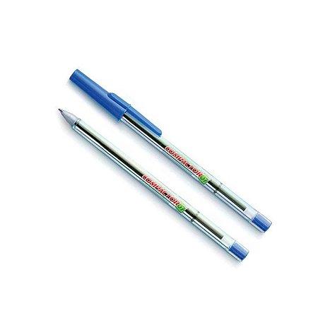 Caneta Ponta Reforçada Azul - 0,7mm Compactor
