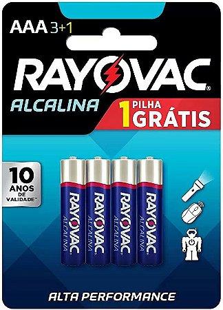Pilha Alcalina Rayovac AAA c/4