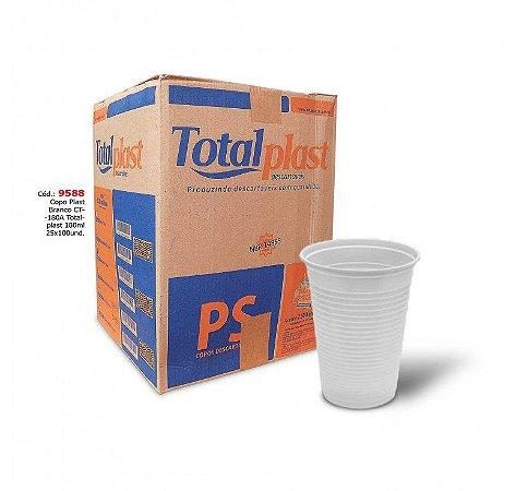 Copo Descartável Branco PS TotalPlast 200ml Ref.: PS-200