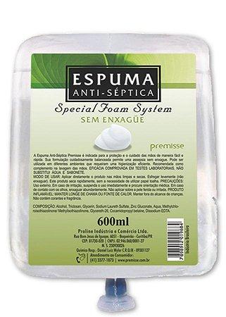 Álcool Espuma Antiseptico Premisse 600ml
