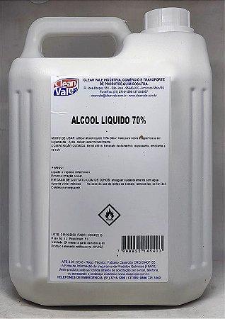 Álcool Líquido Clean Vale 70º 5L