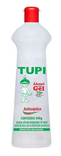 Álcool Gel Bactericida Tupi 70º 500g