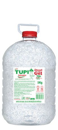 Álcool Gel Bactericida Tupi 70º 5kg