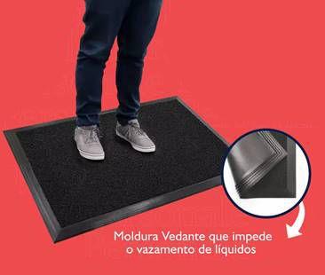 [Kit 2 Peças] Tapete Sanitizante p/ Pedilúvio 38x58cm + Tapete Secante