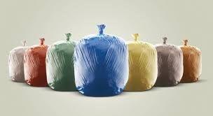 Saco de Lixo Colorido 60L
