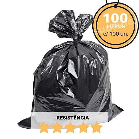 Saco de Lixo Preto 100L c/100 Resistência:Super Reforçado