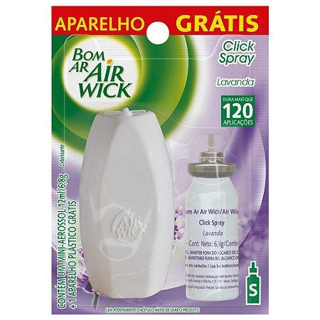 Bom Ar Air Wick Spray Click 12ml + Aparelho Grátis