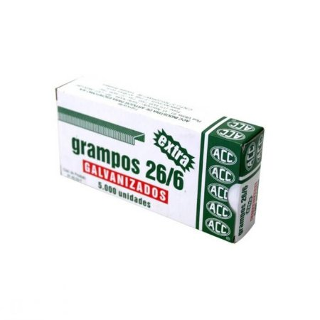 Grampo 26/6 Galvanizado Jocar c/ 5000 Ref.: 93010