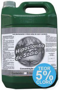 Hipoclorito de Sódio Remove Limo e Manchas 5% 5L