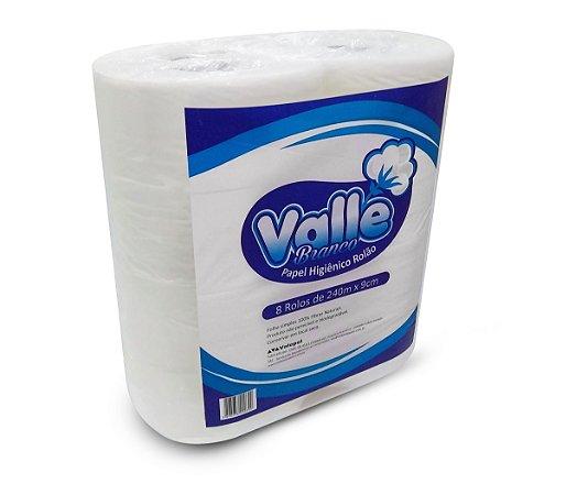 Papel Higiênico Valle Branco 8x9cmx240m