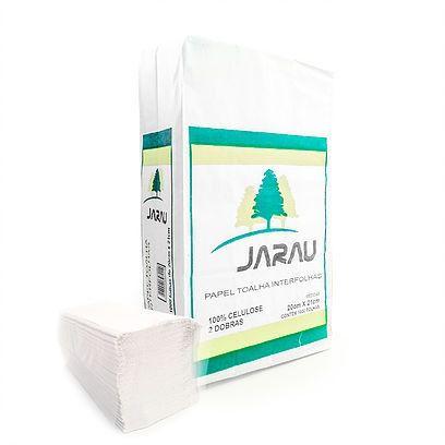 Papel Toalha Interfolhas Jarau 100% Celulose Virgem 20x21cm 1000 Folhas 20g