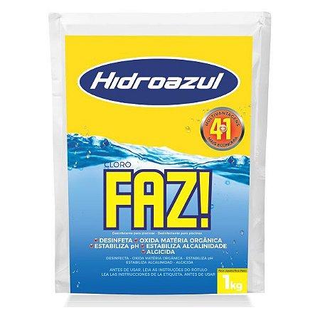 Cloro p/ Piscinas Hidroazul Faz 4 em 1 1kg