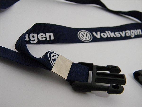 Chaveiro Cordão Volkswagen Vw Volks Azul Com Fecho Motoboy