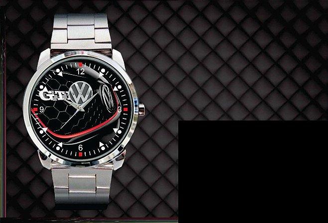 Relógio De Pulso Personalizado Logo Vw Golf Gti Polo Gti