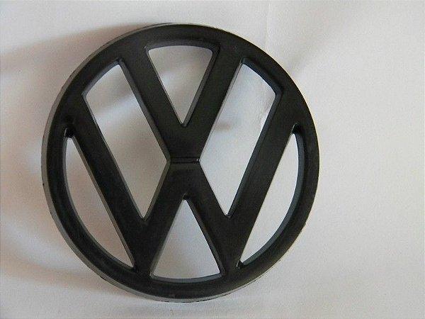Emblema Preto Grade Frontal ate 86 - Original VW