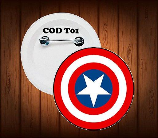 botton, chaveiro ou imã,  capitão america