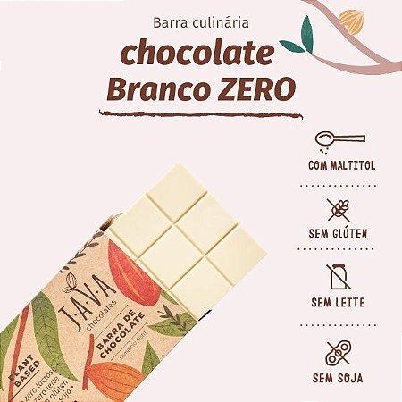 Barra de chocolate BRANCO nobre vegano zero lactose - ZERO AÇÚCAR, glúten, leite e soja - 1 kg