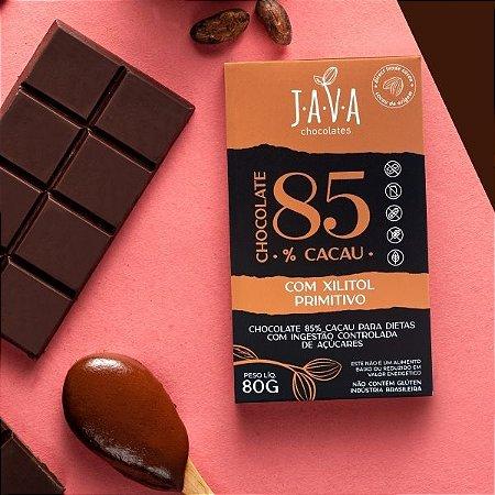 Chocolate com XILITOL low carb 85% cacau Primitivo - 1 tablete de 80g