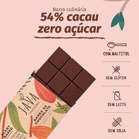 barra de chocolate 54% cacau DIET - 1,010 KG