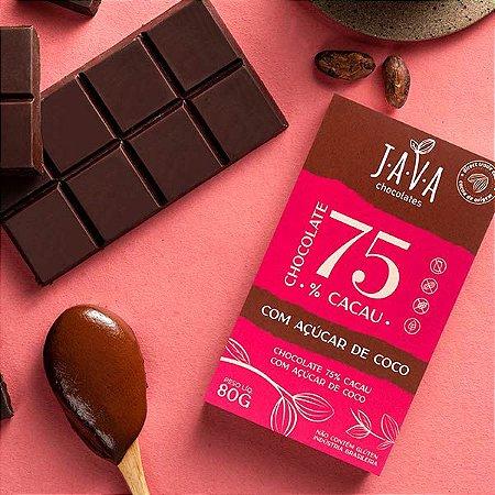 Chocolate com AÇÚCAR DE COCO - 75% cacau - 1 tablete de 80g