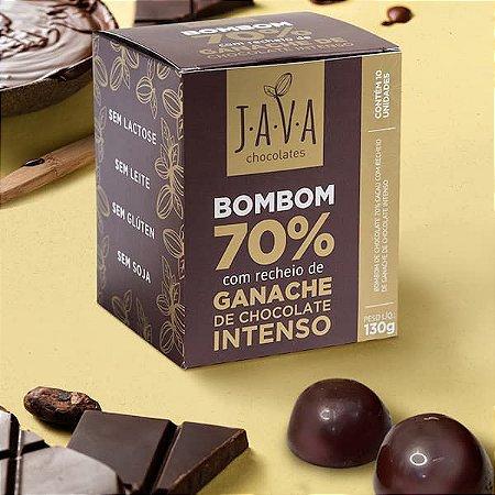 Caixa de BOMBOM  de chocolate 70%  cacau bean to bar com recheio de GANACHE