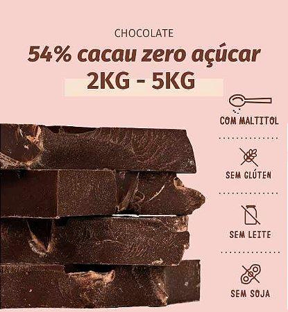 Barra de chocolate 54% ZERO AÇÚCAR - DIET - ESCOLHA 2kg ou 5kg