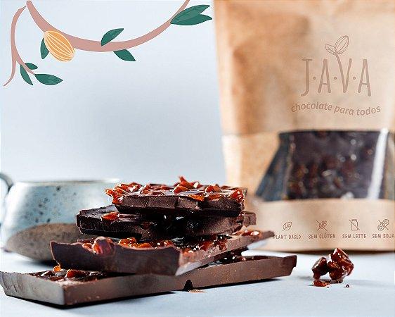 Chocolate quebra quebra  CROCANTE 70% cacau com CARAMELO e flor de Sal - 175 g - Chocolate quebra quebra